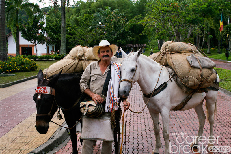 career break travel adventures in Colombia, arriero, Colombia National Park