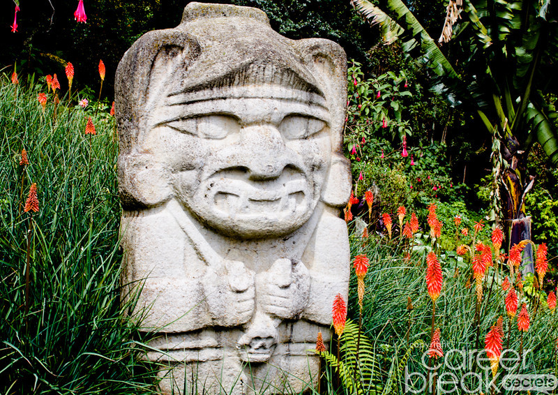 career break travel adventures in Colombia, San Agustin statues