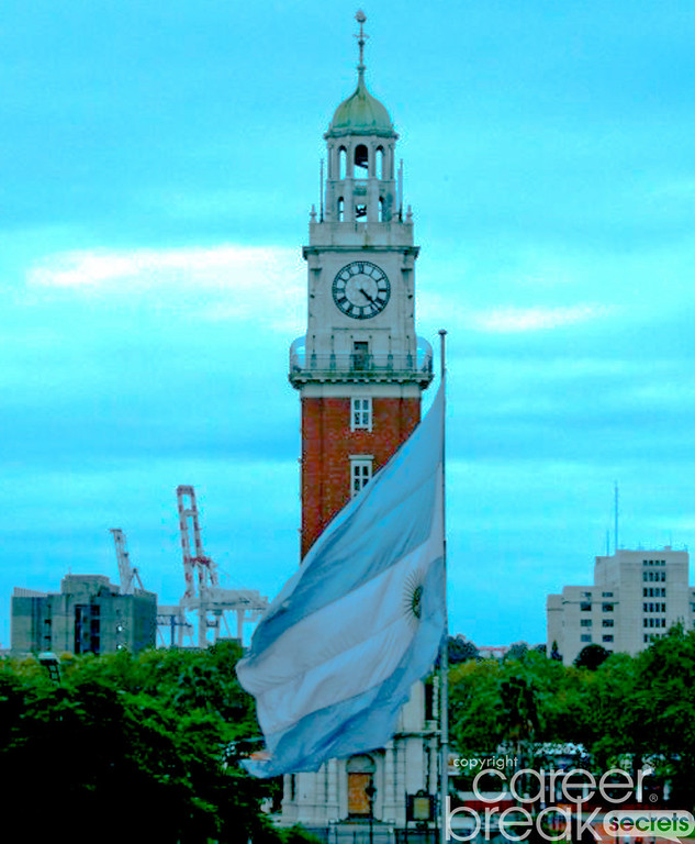 career break travel adventures in Argentina, clock tower, torre monumental, english tower
