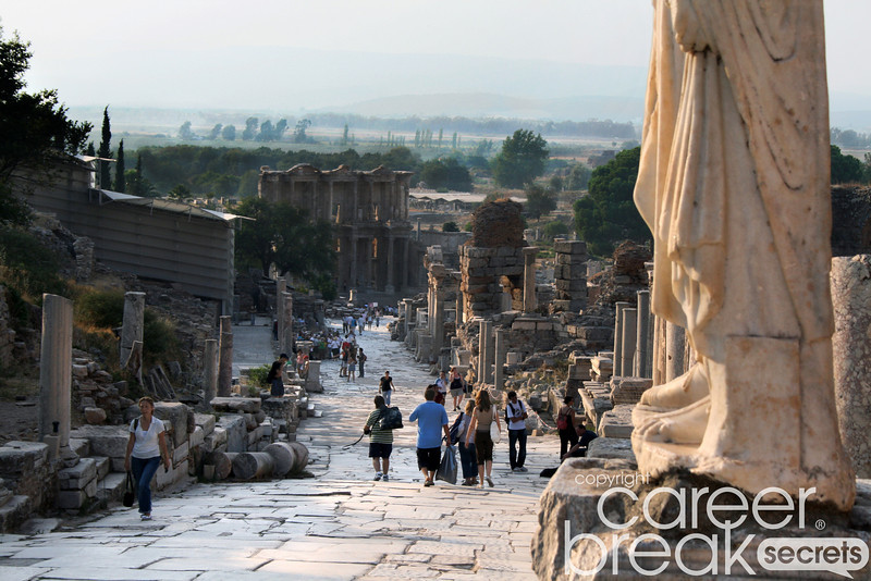 ephesus, career break travela dventures in Turkey