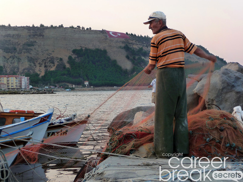 turkish fishermen, career break travel adventures in Turkey