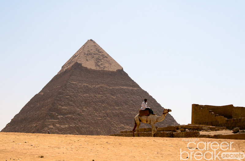 career break travel adventures in Egypt, giza pyramids
