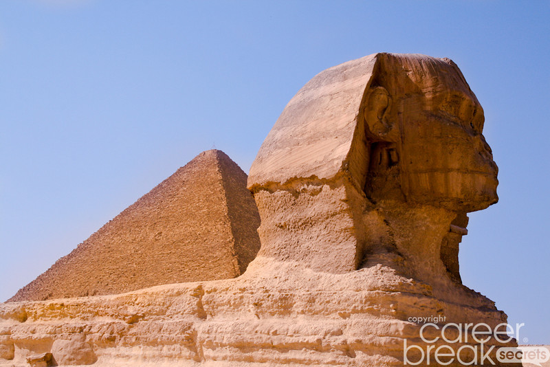 career break travel adventures in Egypt, Sphynx
