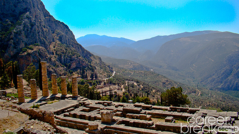 career break travel adventures in Greece, Delphi
