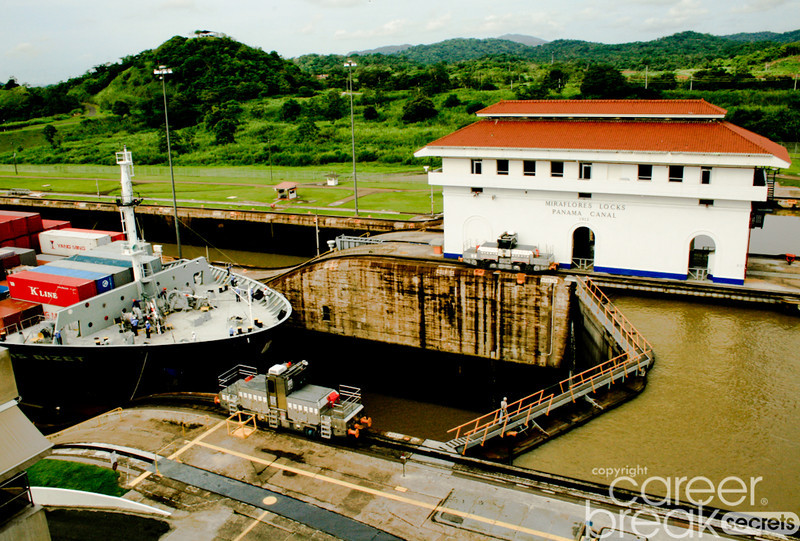 career break travel adventures in Panama, Panama Canal, Miraflores Lock