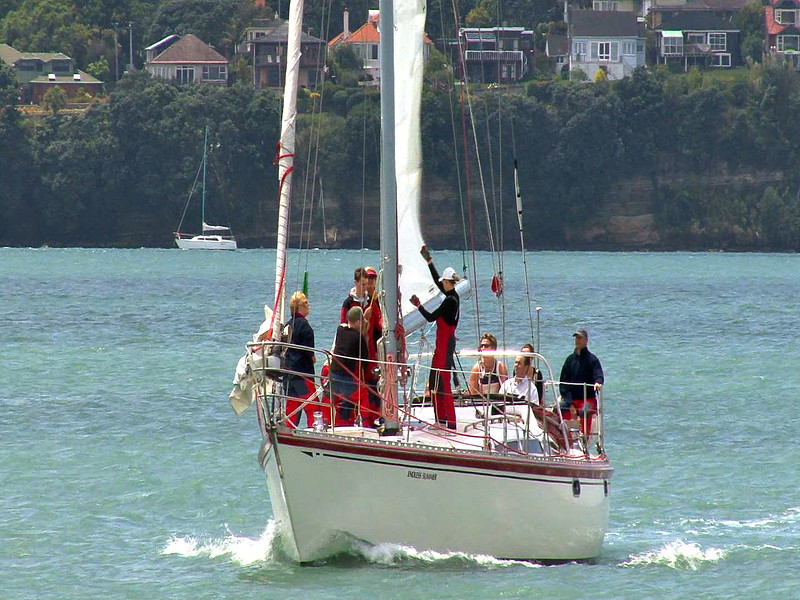 career break travel adventures in New Zealand, sailing in Auckland, Penny Whiting