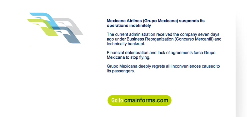 mexicana refunds process, mexicana bankruptcy and cancellation of flights, travel advice, mexicana airlines, mexicana refunds, world travel