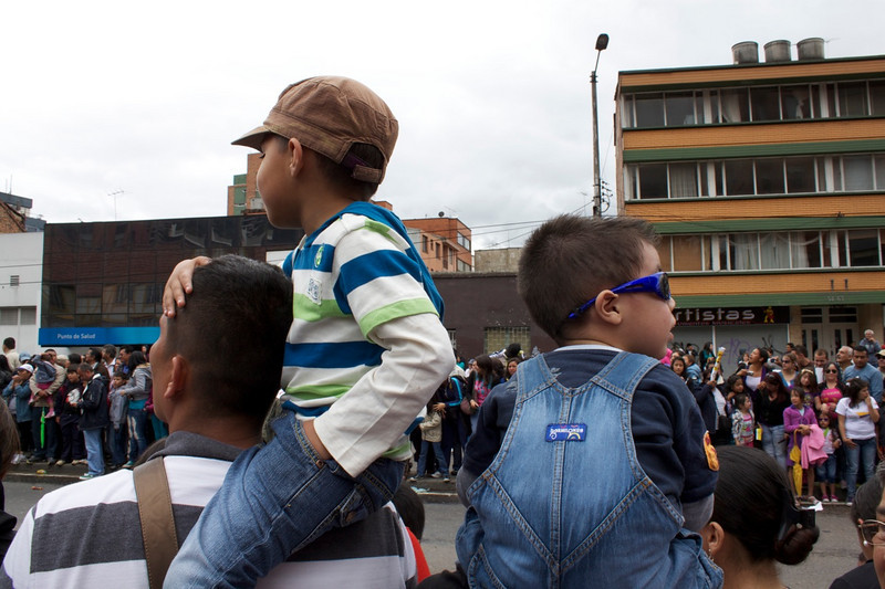 Bogota Colombia, Day of Solidarity Parade, Caminata de la Solidaridad, Colombia travel, festivals in Colombia, Colombia in pictures Bogota parades