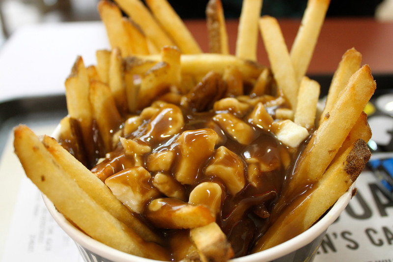 poutine, new york fries, career break travel adventures in Canada