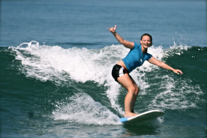 career break travel in Indonesia, surfing in Bali, Angie Away