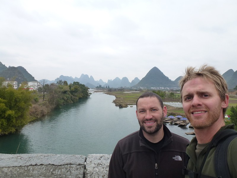 career break travel in China, Li River, hiking in China