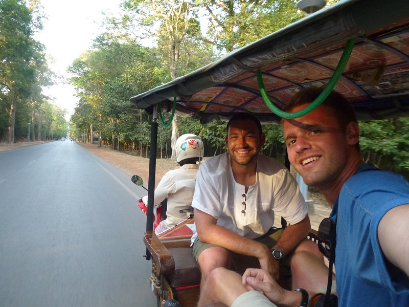 career break travel in Cambodia, tuks tuks, global encounter